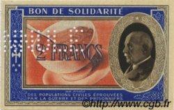 2 Francs BON DE SOLIDARITÉ FRANCE régionalisme et divers  1941 KL.03Bs pr.NEUF