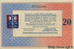 20 Francs BON DE SOLIDARITE FRANCE régionalisme et divers  1941 KL.08Cs SPL+