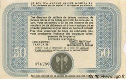 50 Francs BON DE SOLIDARITÉ FRANCE régionalisme et divers  1941 KL.09B SUP