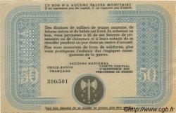50 Francs BON DE SOLIDARITÉ FRANCE régionalisme et divers  1941 KL.09Cs SPL