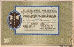 5000 Francs BON DE SOLIDARITÉ FRANCE régionalisme et divers  1941 KL.13As SUP+