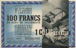 100 Francs - 1 Colis de 5 Kilos FRANCE régionalisme et divers  1941 KLd.02Bs pr.NEUF