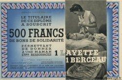 500 Francs - 1 Layette 1 Berceau FRANCE régionalisme et divers  1941 KLd.05Bs pr.NEUF