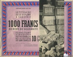 1000 Francs - 10 Colis de 5 Kilos FRANCE régionalisme et divers  1941 KLd.07As SUP