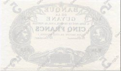 5 Francs Cabasson bleu 1901 GUYANE  1933 P.01s SPL