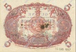 5 Francs Cabasson bleu 1901 GUYANE  1930 P.01a var SUP