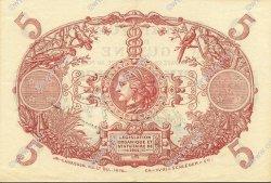 5 Francs Cabasson bleu 1901 GUYANE  1933 P.01b pr.SPL