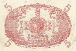 5 Francs Cabasson bleu 1901 GUYANE  1939 P.01c SUP