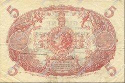 5 Francs Cabasson bleu 1901 GUYANE  1944 P.01d TTB+
