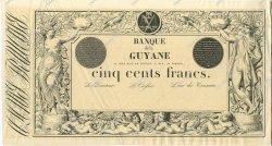 500 Francs GUYANE  1853 P.--s SPL