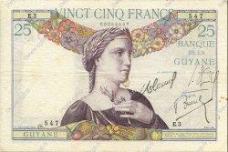 25 Francs type 1927 GUYANE  1933 P.07 TTB+