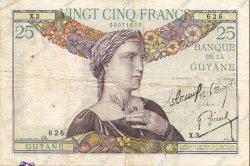 25 Francs type 1927 GUYANE  1934 P.07 TTB+