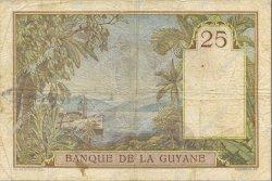 25 Francs type 1927 GUYANE  1939 P.07 TTB