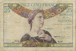 25 Francs GUYANE  1945 P.07 TB+