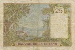 25 Francs type 1927 GUYANE  1945 P.07 TB+