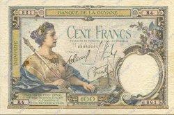 100 Francs type 1927 GUYANE  1933 P.08 TB+