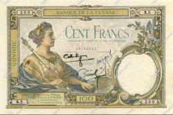 100 Francs type 1927 GUYANE  1939 P.08 TTB+