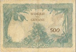 500 Francs type 1927 GUYANE  1942 P.09 TB à TTB