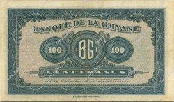 100 Francs type 1942 GUYANE  1942 P.13a TTB