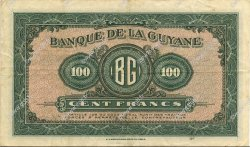 100 Francs GUYANE  1942 P.13a pr.SUP