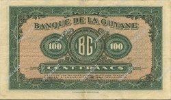 100 Francs type 1942 GUYANE  1945 P.13b TTB+