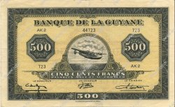 500 Francs type 1942 GUYANE  1945 P.14b SUP