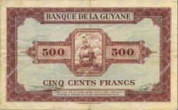 500 Francs type 1942 GUYANE  1945 P.14b TTB+