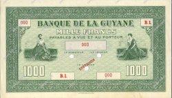 1000 Francs GUYANE  1942 P.15s pr.NEUF