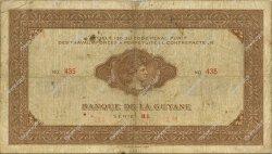 1000 Francs type 1942 GUYANE  1945 P.15 TB à TTB