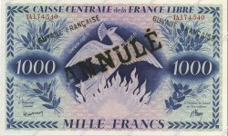 1000 Francs type 1943 GUYANE  1943 P.16A NEUF