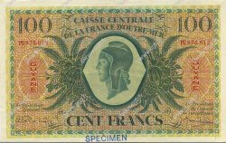 100 Francs type 1943 GUYANE  1943 P.17s pr.SPL
