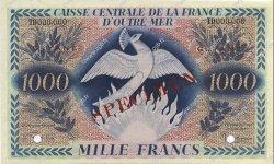 1000 Francs type 1943 GUYANE  1947 P.18s SUP+ à SPL