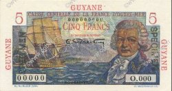 5 Francs GUYANE  1946 P.19s NEUF