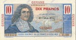 10 Francs GUYANE  1946 P.20s SPL