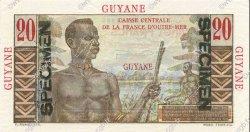 20 Francs GUYANE  1946 P.21s NEUF