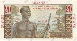 20 Francs Émile Gentil GUYANE  1946 P.21s SPL