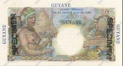 50 Francs GUYANE  1946 P.22s SPL