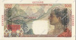 100 Francs La Bourdonnais GUYANE  1946 P.23s NEUF