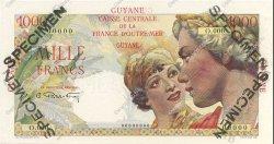 1000 Francs GUYANE  1947 P.25s NEUF