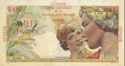 1000 Francs GUYANE  1947 P.25s SUP