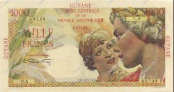 1000 Francs Union Française GUYANE  1947 P.25a SPL