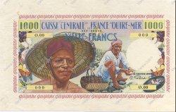 1000 Francs pêcheur GUYANE  1956 P.27s pr.NEUF