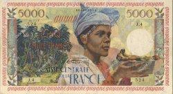 5000 Francs GUYANE  1956 P.28 SUP+