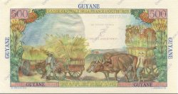 5 NF sur 500 Francs GUYANE  1961 P.30 NEUF