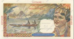 10 NF sur 1000 Francs GUYANE  1961 P.32 SPL+