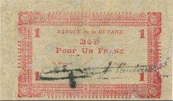 1 Franc GUYANE  1942 P.11 TTB+