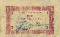 1 Franc GUYANE  1942 P.11 TB
