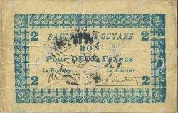 2 Francs GUYANE  1945 P.11C pr.TTB