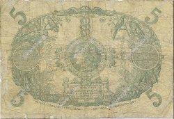 5 Francs Cabasson rouge 1901 MARTINIQUE  1919 P.06A B