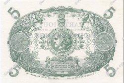 5 Francs Cabasson violet 1901 MARTINIQUE  1932 P.06s NEUF